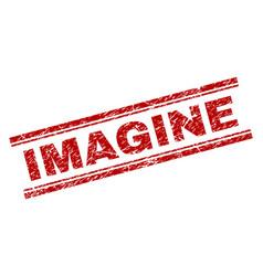 Grunge textured imagine stamp seal vector
