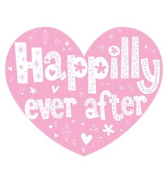 Happily ever after 2 vector image