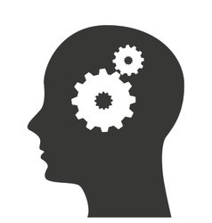 head profile mind icon vector image