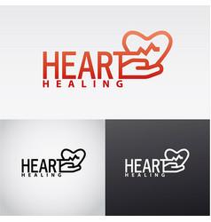 Heart healing logo vector