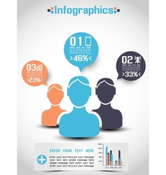 INFOGRAPHICS DEMOGRAPHICS PEOPLE RANKING vector image