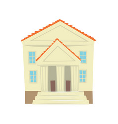 Justice court building cartoon vector