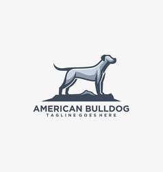 Logo american bulldog mascot cartoon style vector
