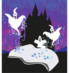 Magic book with ghost stories vector