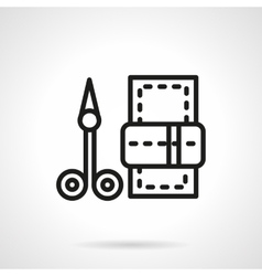 Manicure scissors black line icon vector image