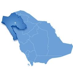 Map of Saudi Arabia the region Tabuk vector