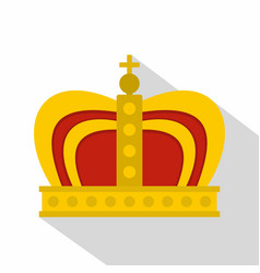 Monarchy crown icon flat style vector