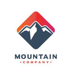 mountain logo design your company vector image