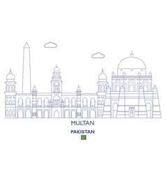 Multan city skyline vector