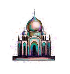 Muslim mosque islam vector