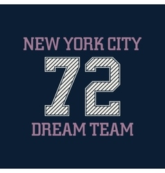New york city typography t-shirt graphics vector