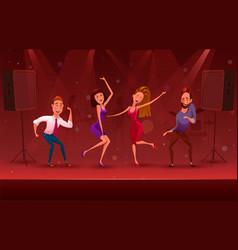 nightclub disco party modern dancing cartoon vector image
