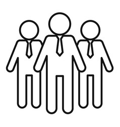 Opportunity group icon outline style vector
