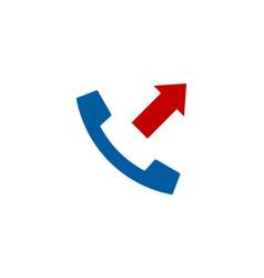 Out call logo icon design vector