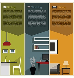 paper folded for interior decoration concept vector image