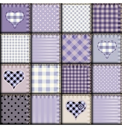 Patchwork light lilac background vector
