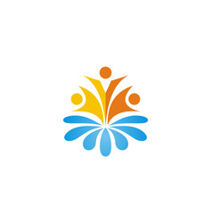 people water spark logo vector image