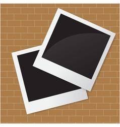 Photo on wall vector