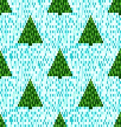 Pixel seamless pattern vector