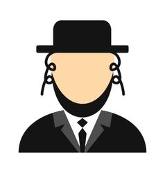 Rabbi flat icon vector