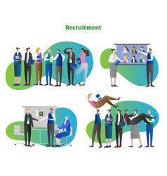 recruitment cycle collection vector image
