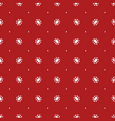 red pattern with white ornaments vector image