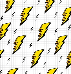 Retro 80s lightning bolts pattern vector