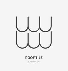 Roofing flat line icon of composite vector