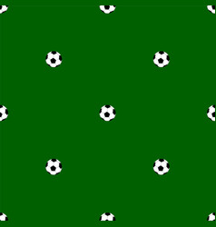 Seamless pattern with soccer balls vector
