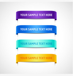 set colored banners with text vector image