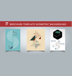 set template geometric covers design you can use vector image