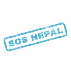 Sos Nepal Rubber Stamp vector