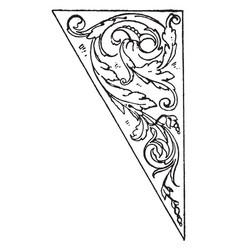 Triangular panel was described to michael angelo vector