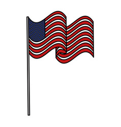 united states of asmerica flag vector image