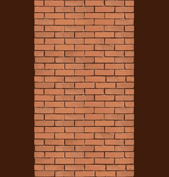vertical brick wall background vector image