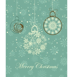 vintage retro christmas vector image vector image