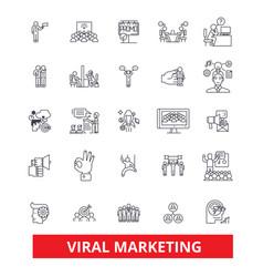 Viral word of mouth social media advertising vector