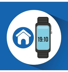 Watch homepage app social network vector