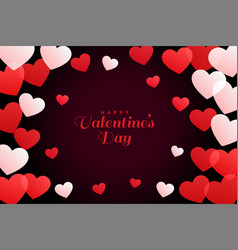 white and red hearts background for valentines day vector image