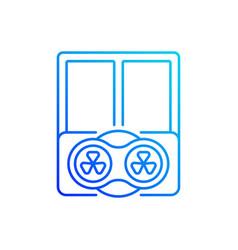 Window fans linear icon vector