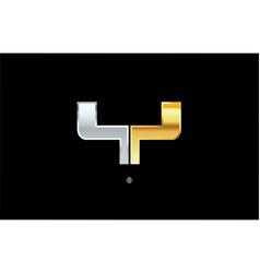 Y silver gold letter alphabet logo icon design vector