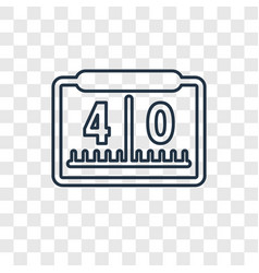 yard marking concept linear icon isolated on vector image