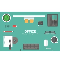 desk header vector image