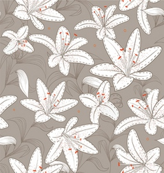 lily pattern vector image vector image