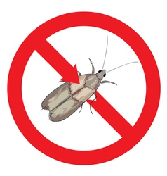 Moth pest is prohibited vector image