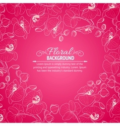 Orchid flower drawing template vector image