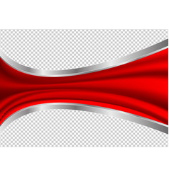 red waves abstract transparency background vector image