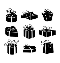 Set of gift boxes icons vector image