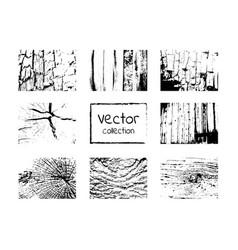 wood grungy black texture set vector image