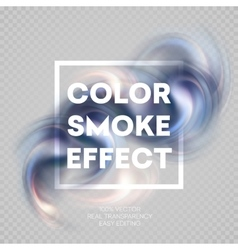 Colorful smoke on isolated background vector